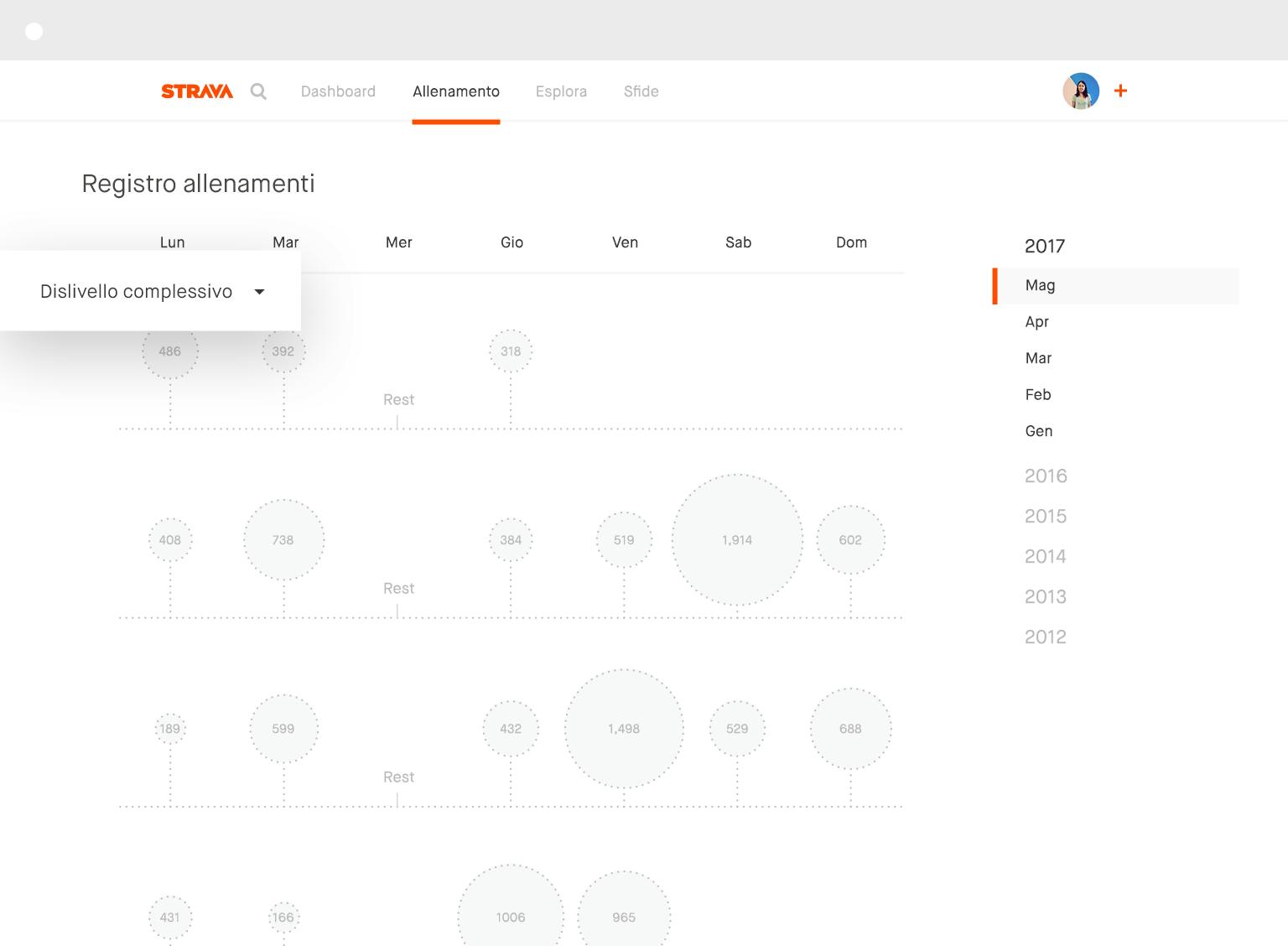 Registro allenamenti desktop
