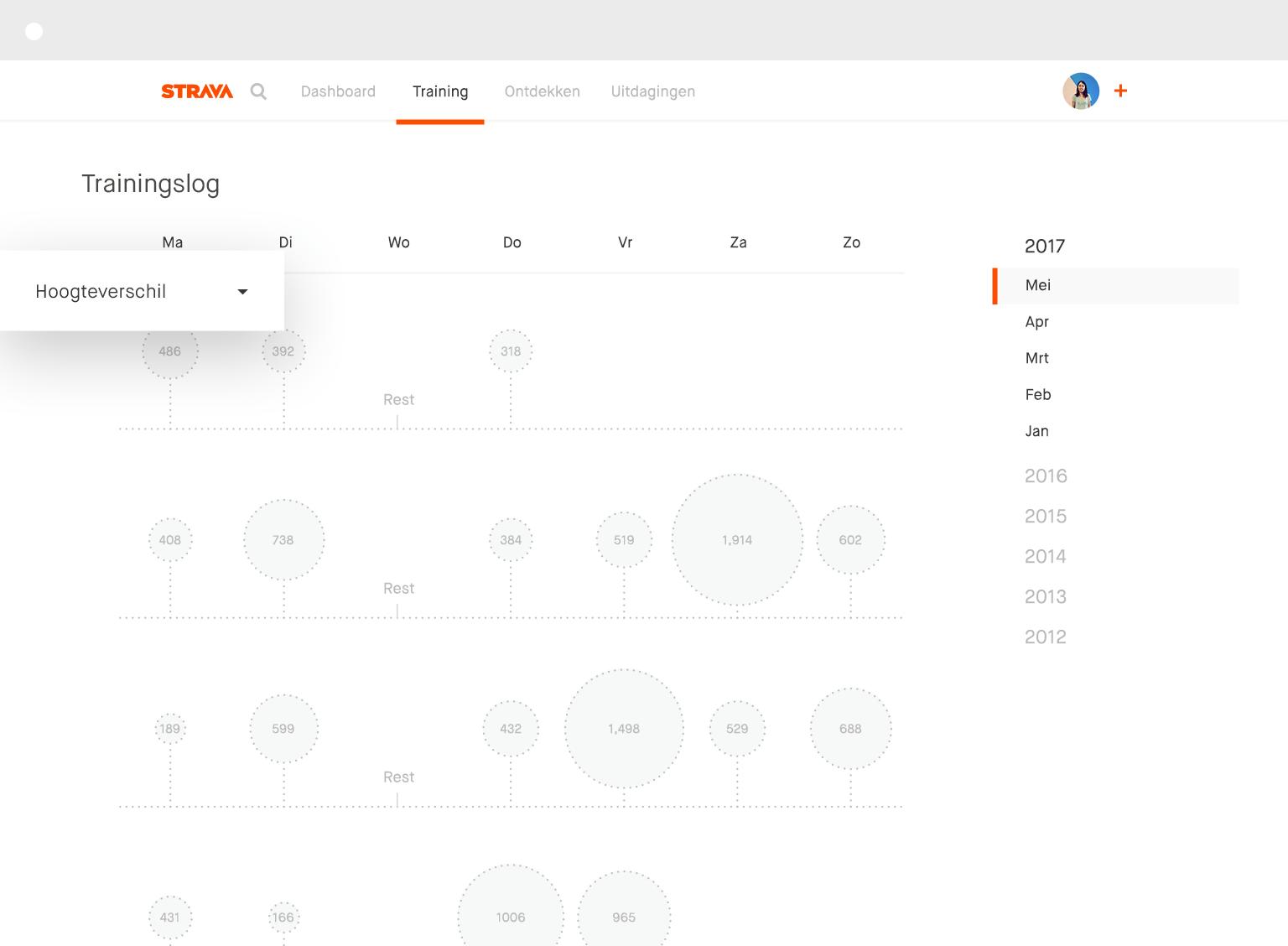 Desktop-trainingslog
