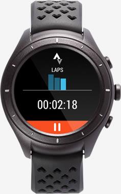 Immagine del watch Android Wear 2.0 raffigurante i dati relativi ai giri.