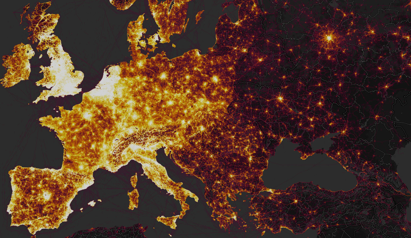 Map Of The World Picture.Strava Global Heatmap