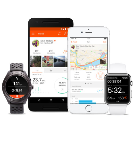 Image of the Strava App on your mobile device