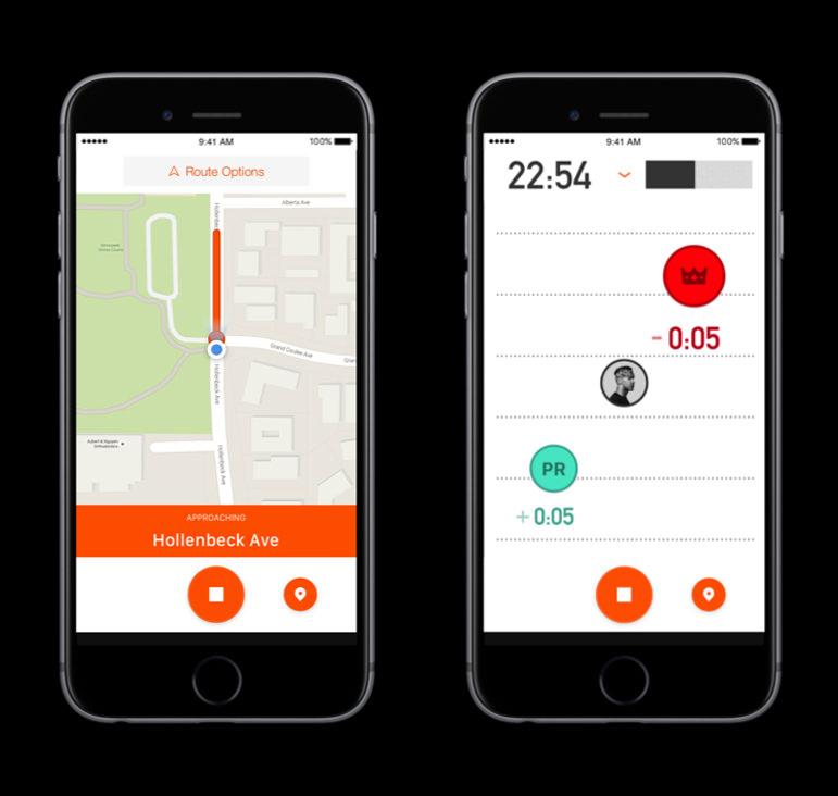 Strava App Live Segments View