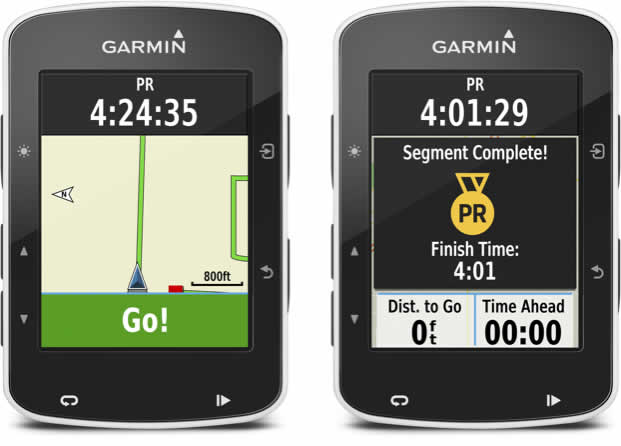 Garmin Live Segments View