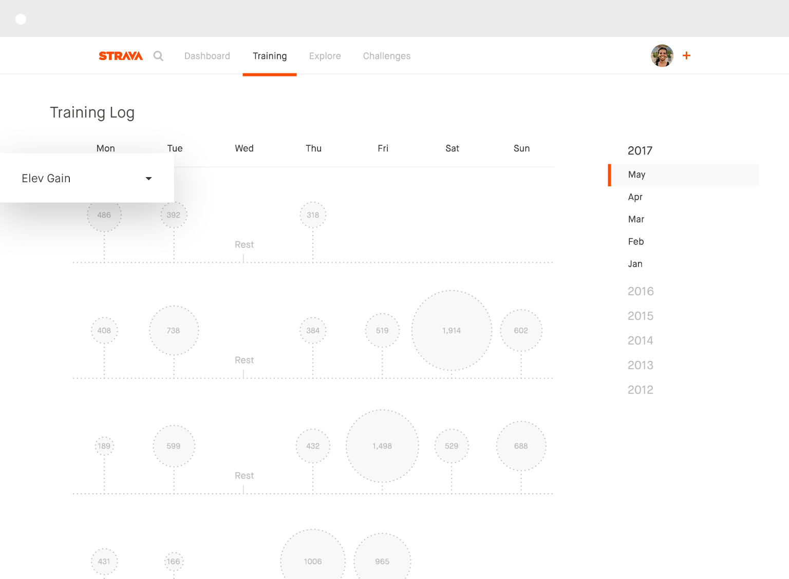 strava run and cycling tracking on the social network for athletes